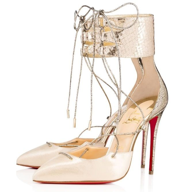 Christian Louboutin United States Official Online Boutique  Corsankle 100 Version Platine Lame Mercure available online Discover more Women Shoes by
