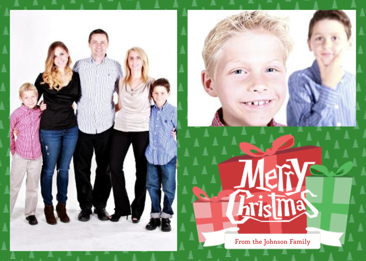 Family Christmas Card Template 5x7 Family Christmas Cards Christmas Card Template Personalised Christmas Cards