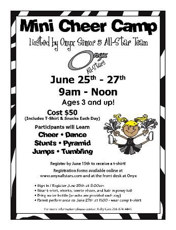 another mini-cheer camp flyer example Drill team Pinterest - sample football score sheet