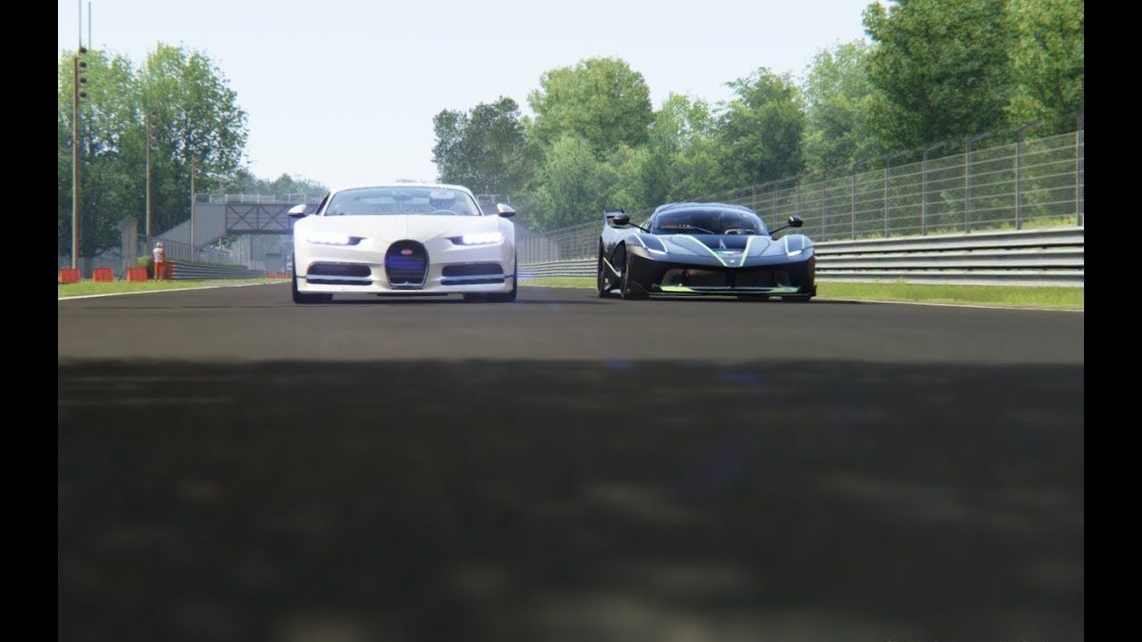 Ferrari FXX-K vs Bugatti Chiron vs Nissan GT-R '17 at Monza Ferrari FXX-K vs Bugatti Chiron vs Niss