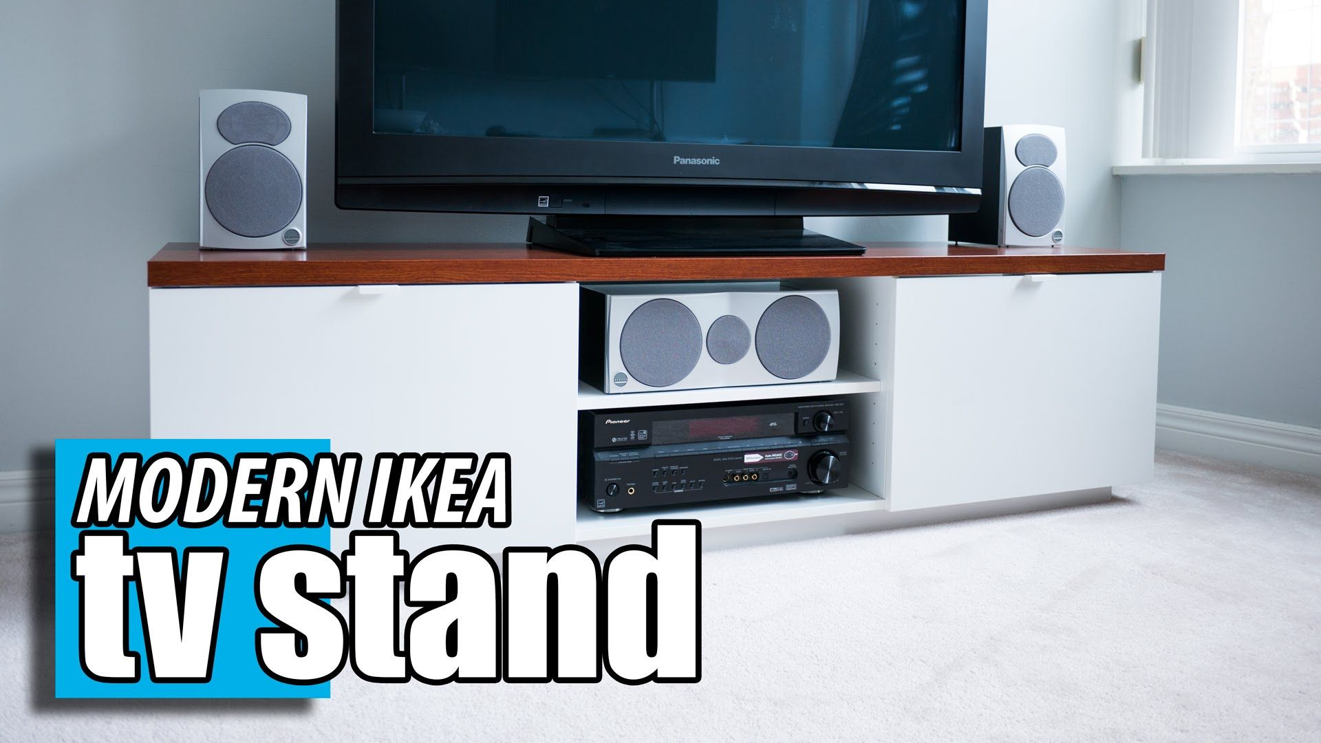 IKEA Byas TV Stand DIY Wood Transformation Hack Meuble