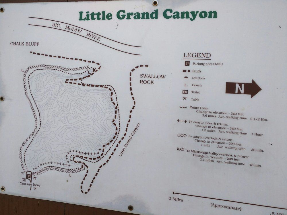 LIttle Grand Canyon  Pomona IL United States Map  Southern