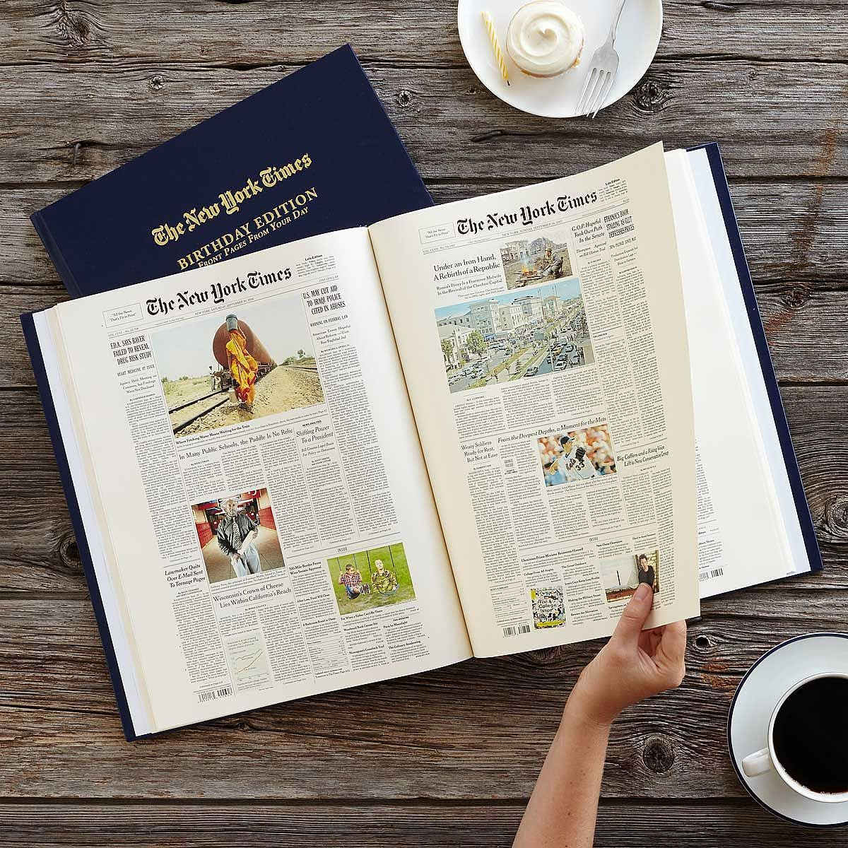 New York Times Custom Birthday Book Products Pinterest Gifts