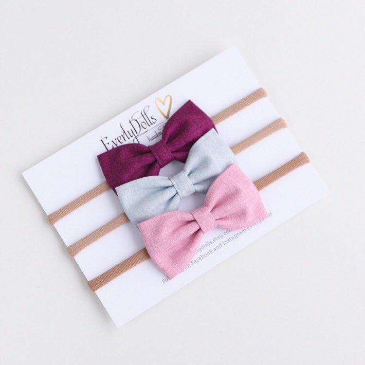 6 x Girls Hair Bows// Bobbles// Ponios Small Baby Ponios Bobbles// Gliter Bows