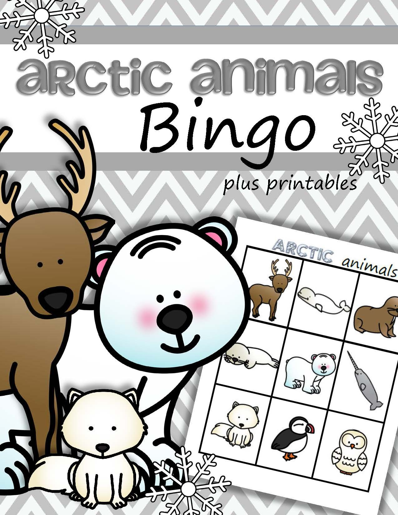 Arctic Animals Bingo Game Arctic Animals Preschool Arctic Animals Preschool Activities Arctic Animals [ 1650 x 1275 Pixel ]