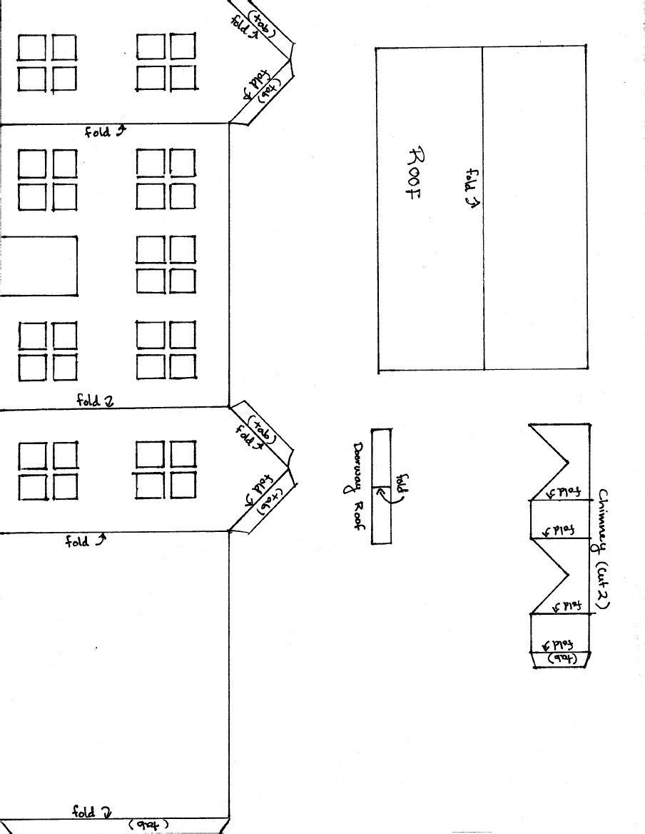 Colonial Glitterhouse Pattern | Scribd | Putz houses | Pinterest ...