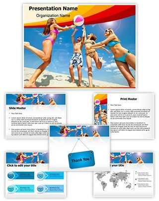 beach fun powerpoint template is one of the best powerpoint