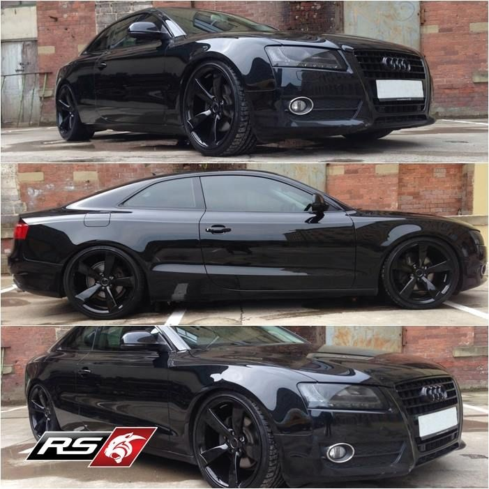 Audi A5 Black Edition Gloss Black Grill Lowered With Hr Springs
