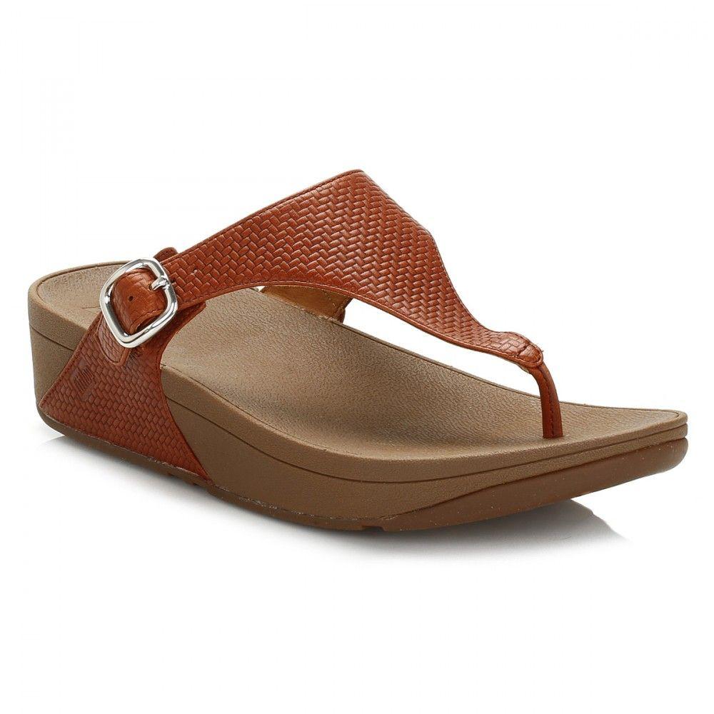 Buy brown (dark tan) fitflop womens dark tan the skinny sandals. FitFlop  womens sandals at TOWER London - mens, womens and kids branded footwear.