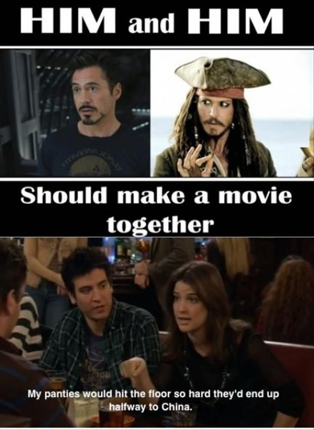 Johnny Deep And Robert Downey Jr Same Movie Funny Pictures Hilarious Johnny Depp
