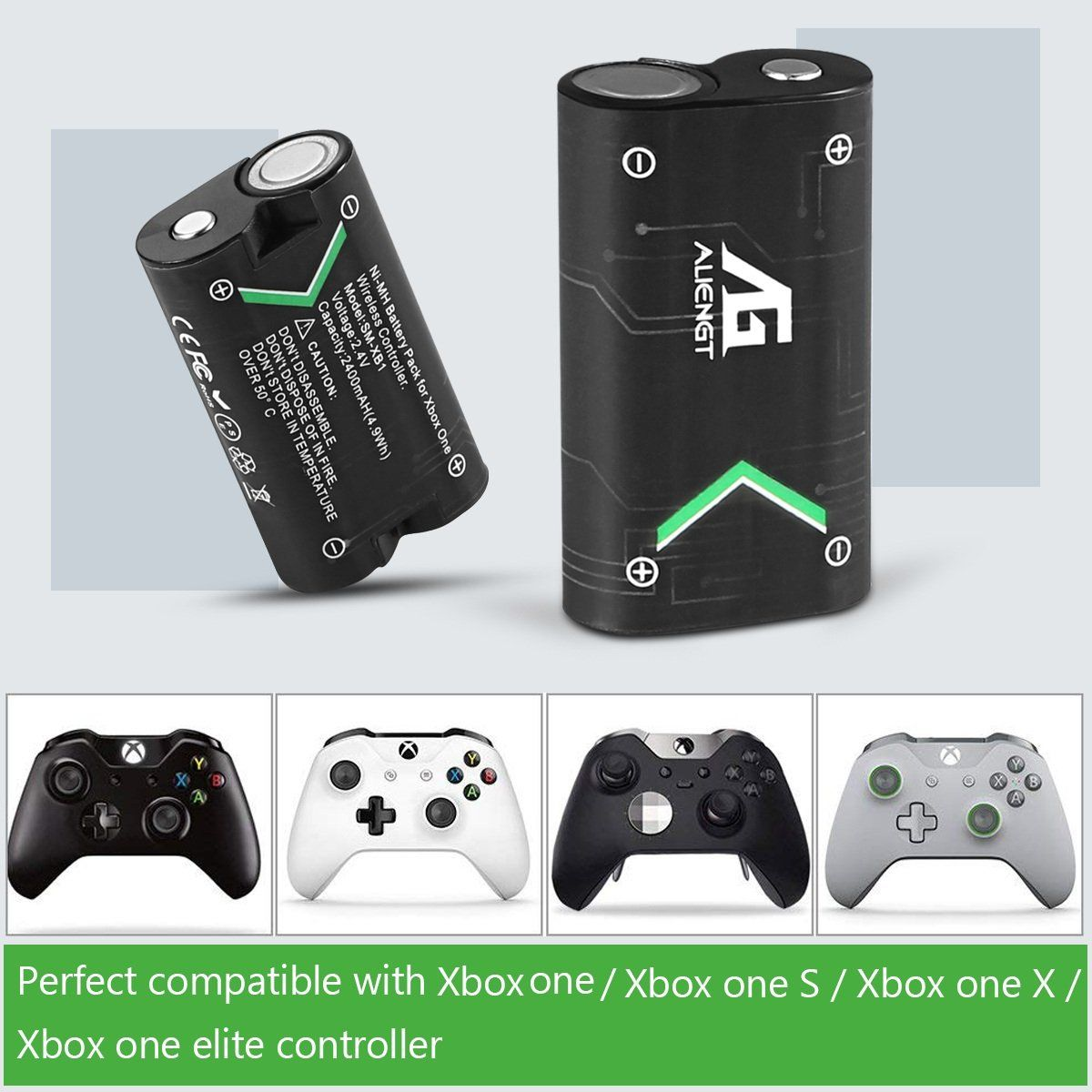 Xbox One Controller Battery Pack 2 X 2500mah Rechargeable Xbox One Battery Pack Fast Charging Xbox One Batte Xbox One Controller Xbox One S Wireless Controller
