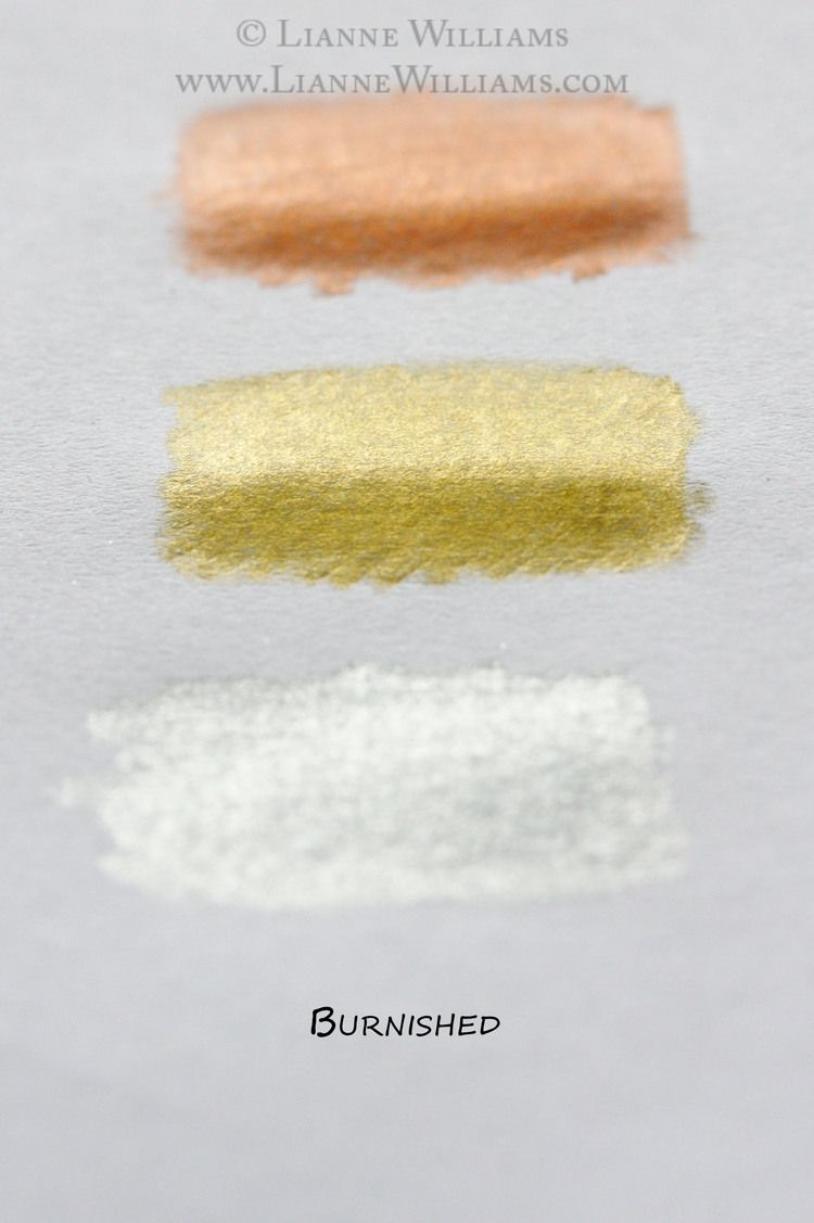 Metallic colour pencils can add a beautiful special effect to your drawings  if you take a little time to get to know them. Most brands carry them now  and they often come in shades of copper, gold or silver.  Some tips on metallic colour pencils:     * They do NOT work well on artwork that is intended for anything other       then first hand veiwing. Digital/online/print media don't work with       these as they don't capture the metallic glint.     * They do not take well to being scanned…