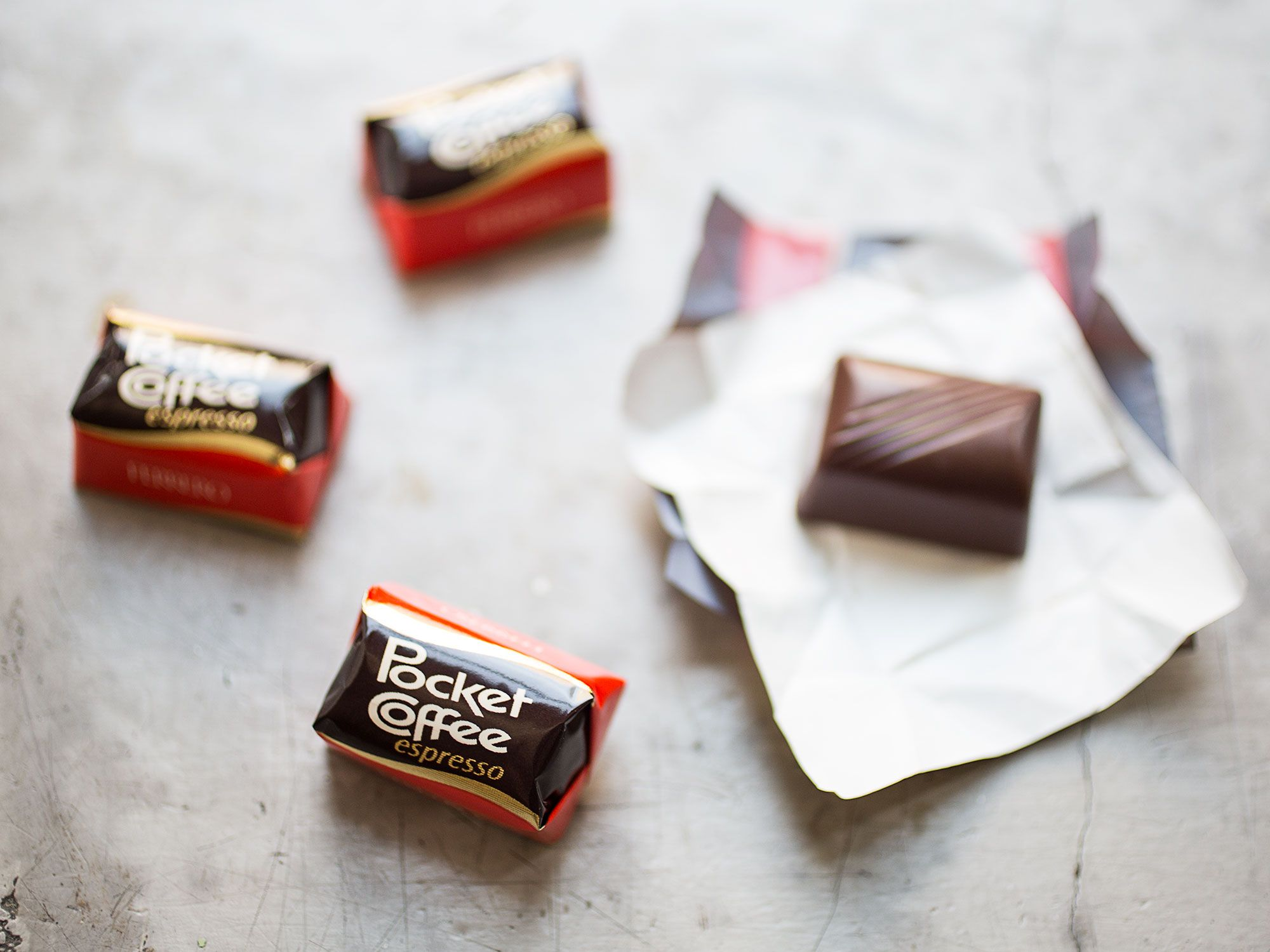 Pocket coffee: because sometimes you want your caffeine to be candy.