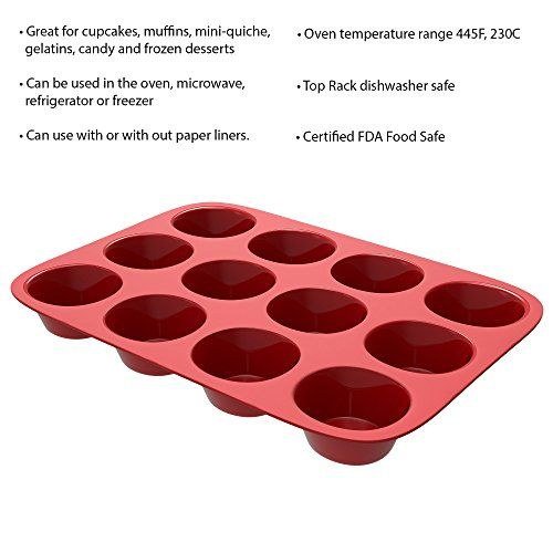 Silicone Muffin Pan Nonstick Cupcake Muffin Brownie Reusable