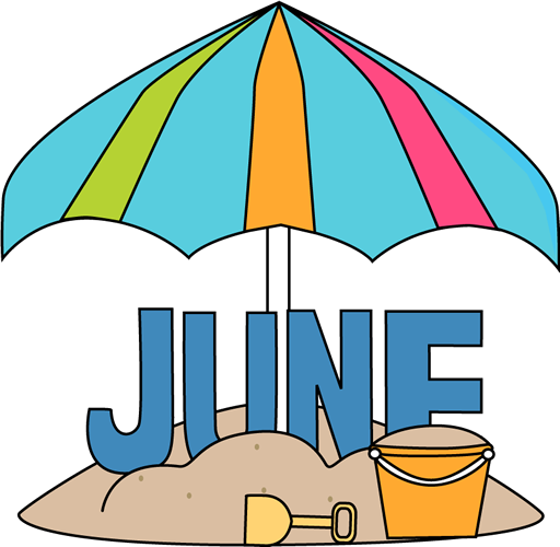 free month clip art month of june at the beach clip art image rh pinterest com april calendar clipart