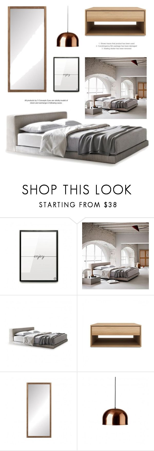 """""""Minimalistic Bedroom Decor"""" by lovethesign-eu ❤ liked on Polyvore featuring interior, interiors, interior design, home, home decor, interior decorating, Ivano Redaelli, Menu, bedroom and Home"""