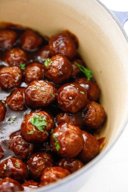 Saucy Beer BBQ Meatballs - The Brooklyn Cook