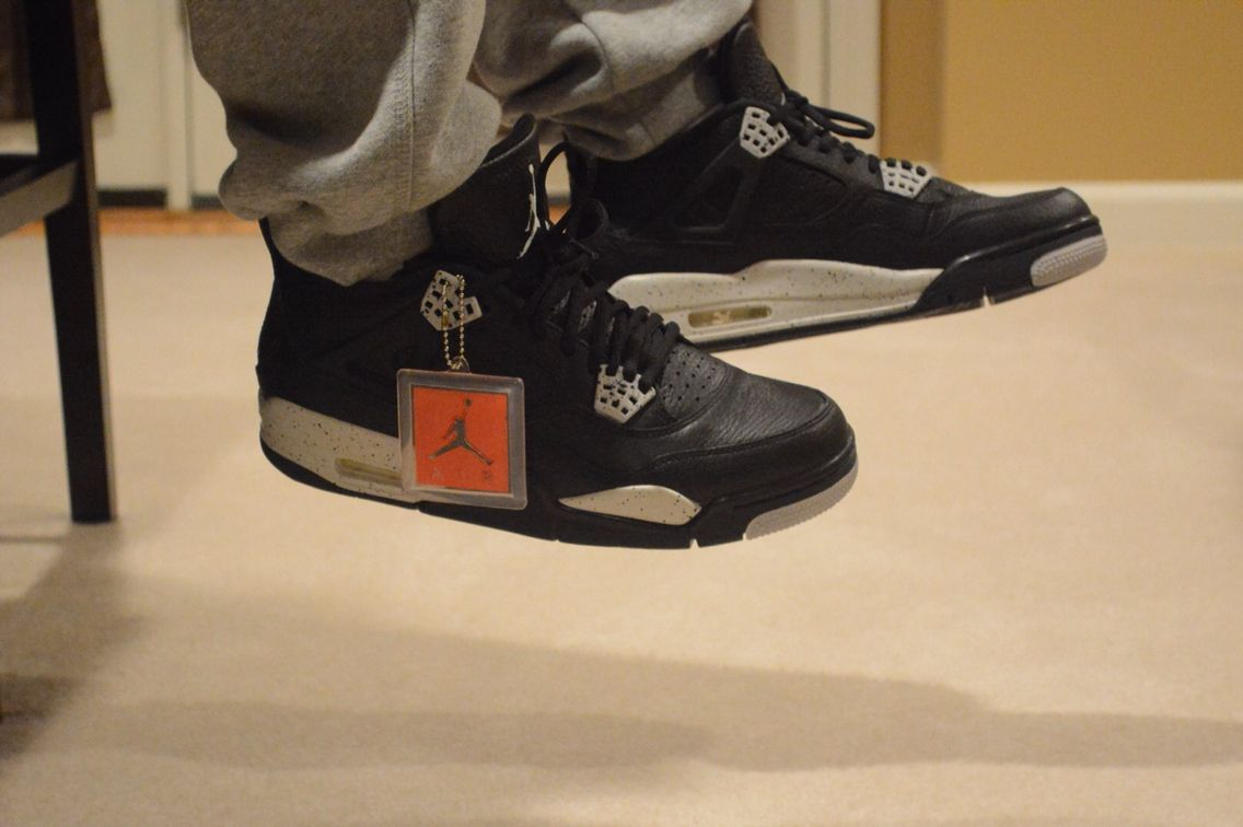 release date: e4c31 ee6af Remastered 'Oreo' Air Jordan 4s on my feet | sneakers ...