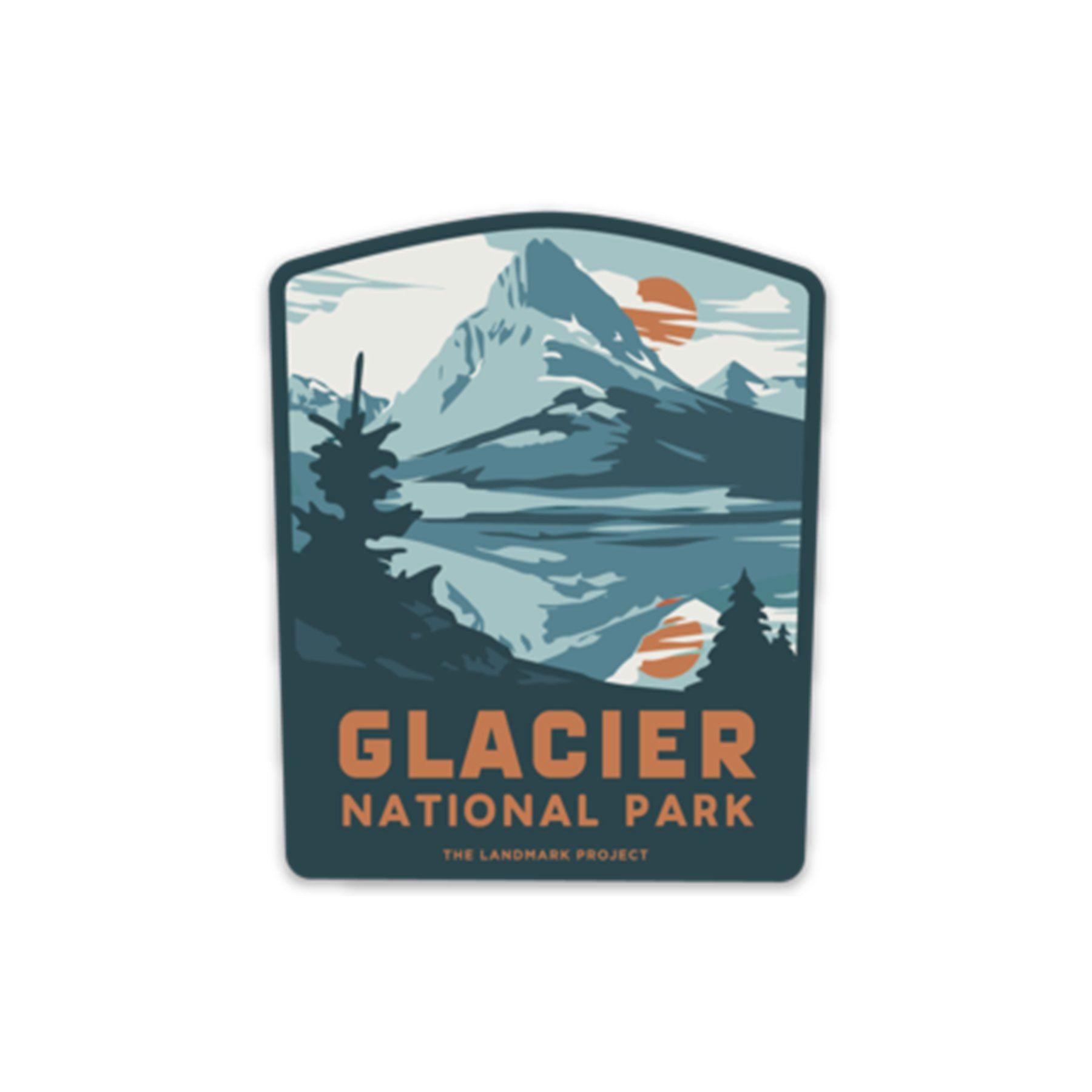 Glacier National Park Sticker National parks, Badge