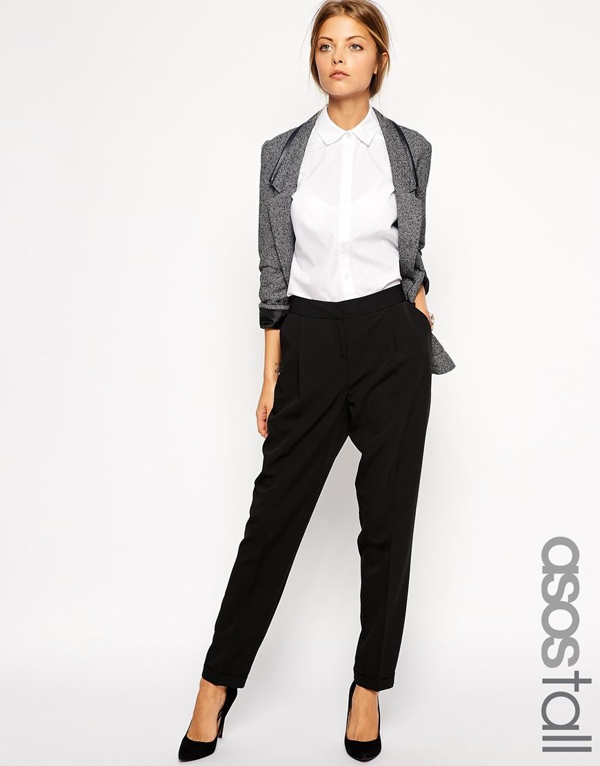 Image 1 asos tall pantalon carotte pur coupe longue style vetements pinterest - Jogging coupe carotte femme ...