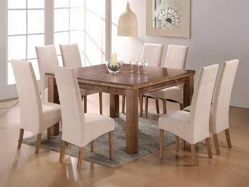 Classic Square Kitchen Table For 8 With Small Rugs Square Dining