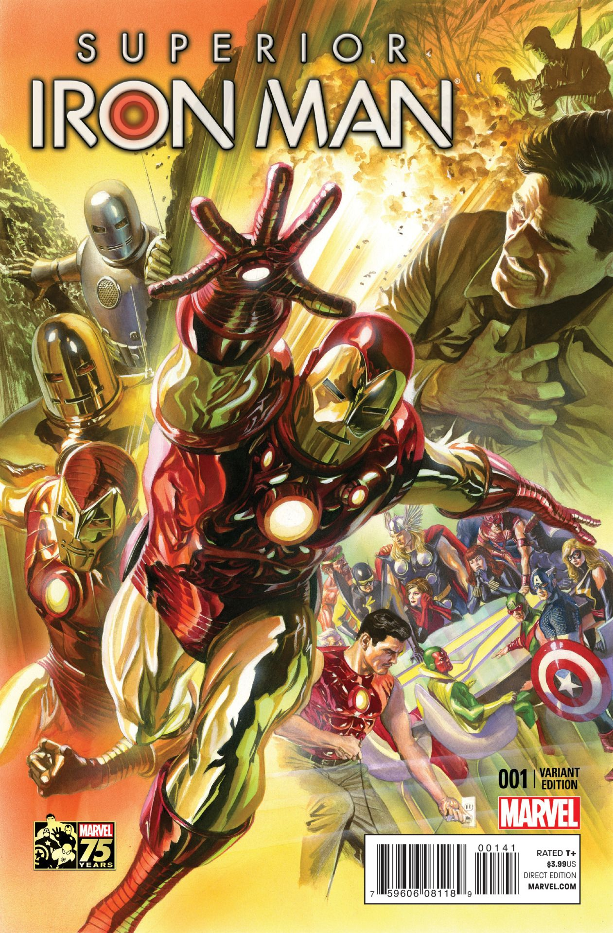 Superior Iron Man #1 Alex Ross Variant Cover
