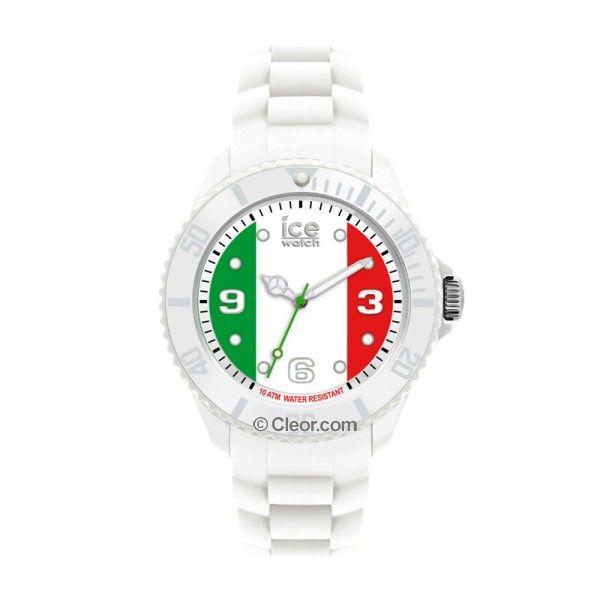 Montres - Montre ICE-WATCH Homme, Quartz, Boîtier Résine, drapeau italien,  Bracelet Silicone blanc - WO.IT.B.S.12 c60362a84bb