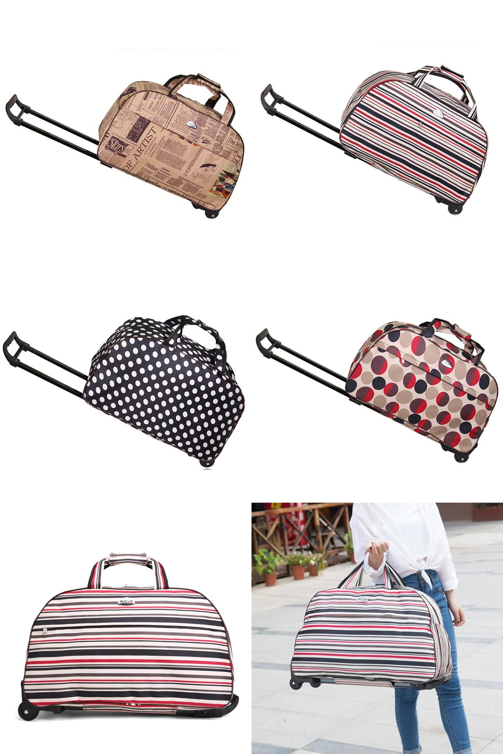 e167a91192  Visit to Buy  Rolling Luggage Travel Bag On Wheels Trolley Luggage  Shopping Travel Suitcases