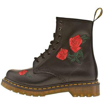 dr martens finda 8 eye roses boots craftastic pinterest dr martens. Black Bedroom Furniture Sets. Home Design Ideas
