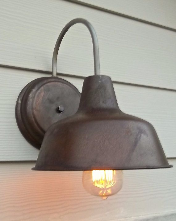 Rustic Outdoor Shed Light By Cre8iveconcrete On Etsy