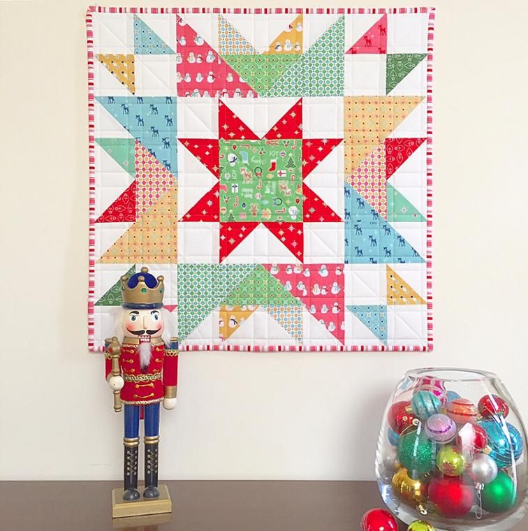 Happy Star Mini Quilt Craftsy Quilting Pinterest Mini Quilts Enchanting Mini Quilt Patterns