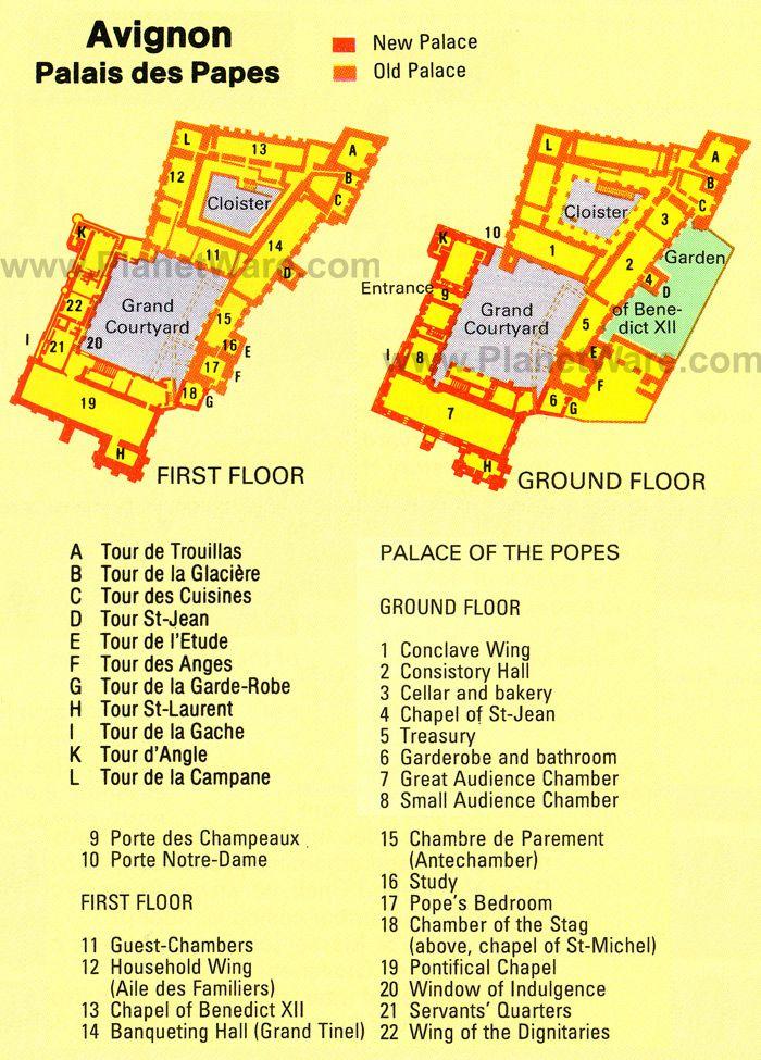 Palace Map D&d : palace, Avignon, Palais, Papes, Ground, Floor, Avignon,, Tourist, Attraction
