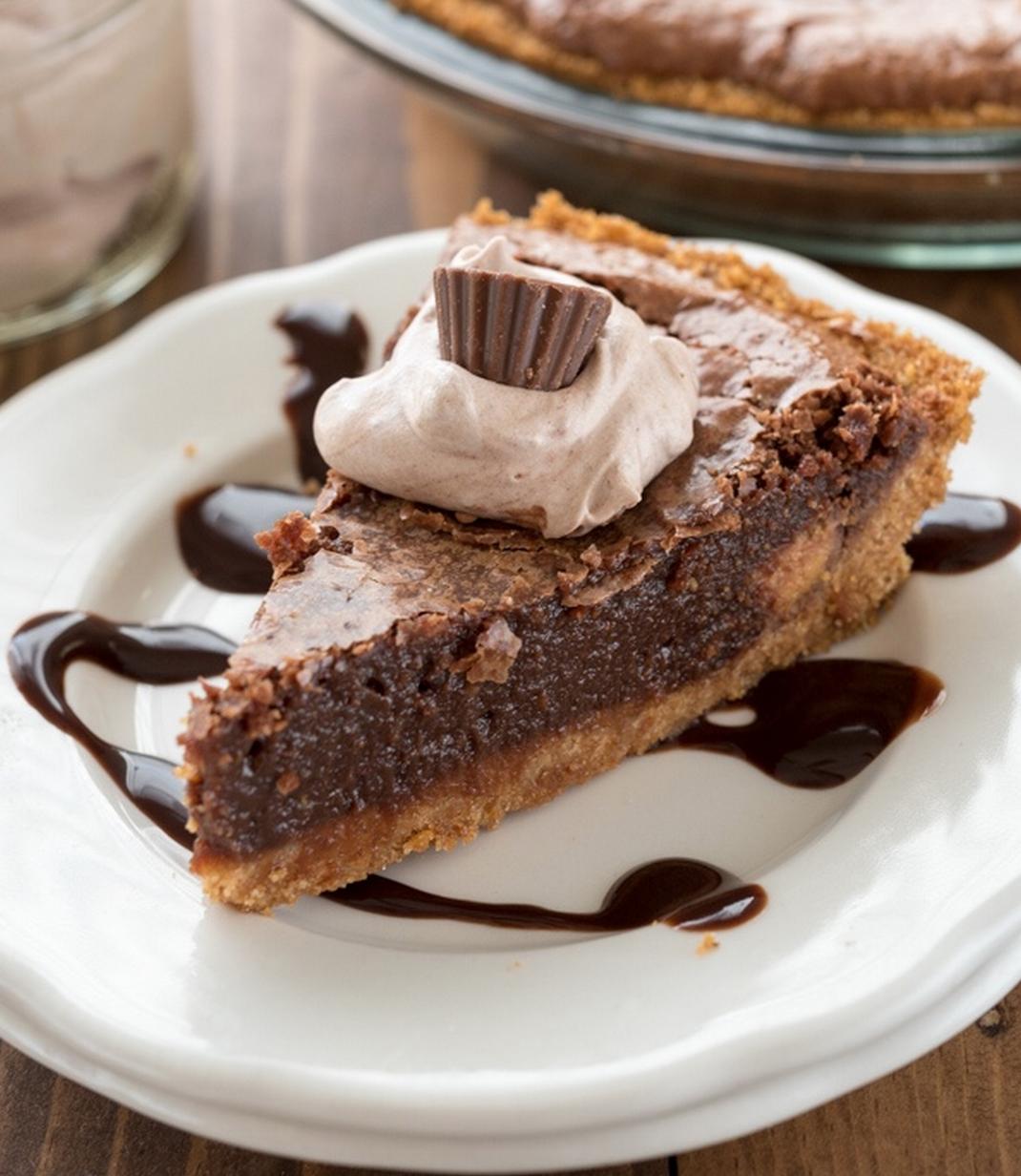 Chocolate Chess Pie with Graham Cracker Crust