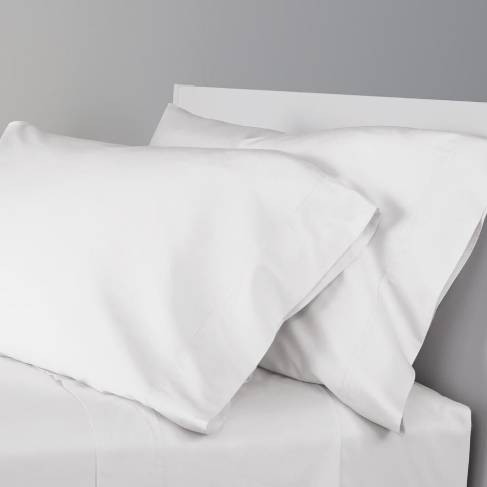 Set of 2 100/% Cotton Pillowcase Set 300 Thread Count Soft Solid Pillowcases