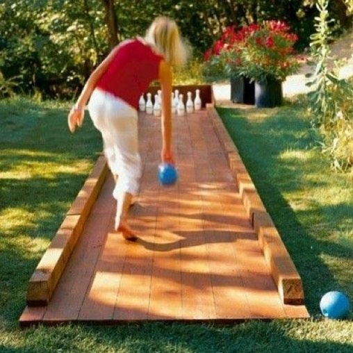 Cool #DIY #bowling Lane In The Backyard! #kids #activity