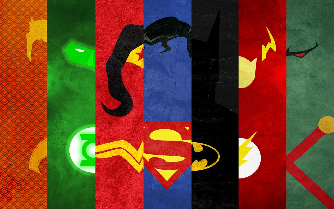 Minimalist Poster The Justice League