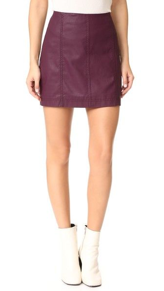 FREE PEOPLE Modern Femme Vegan Miniskirt. #freepeople #cloth #dress #top #shirt #sweater #skirt #beachwear #activewear