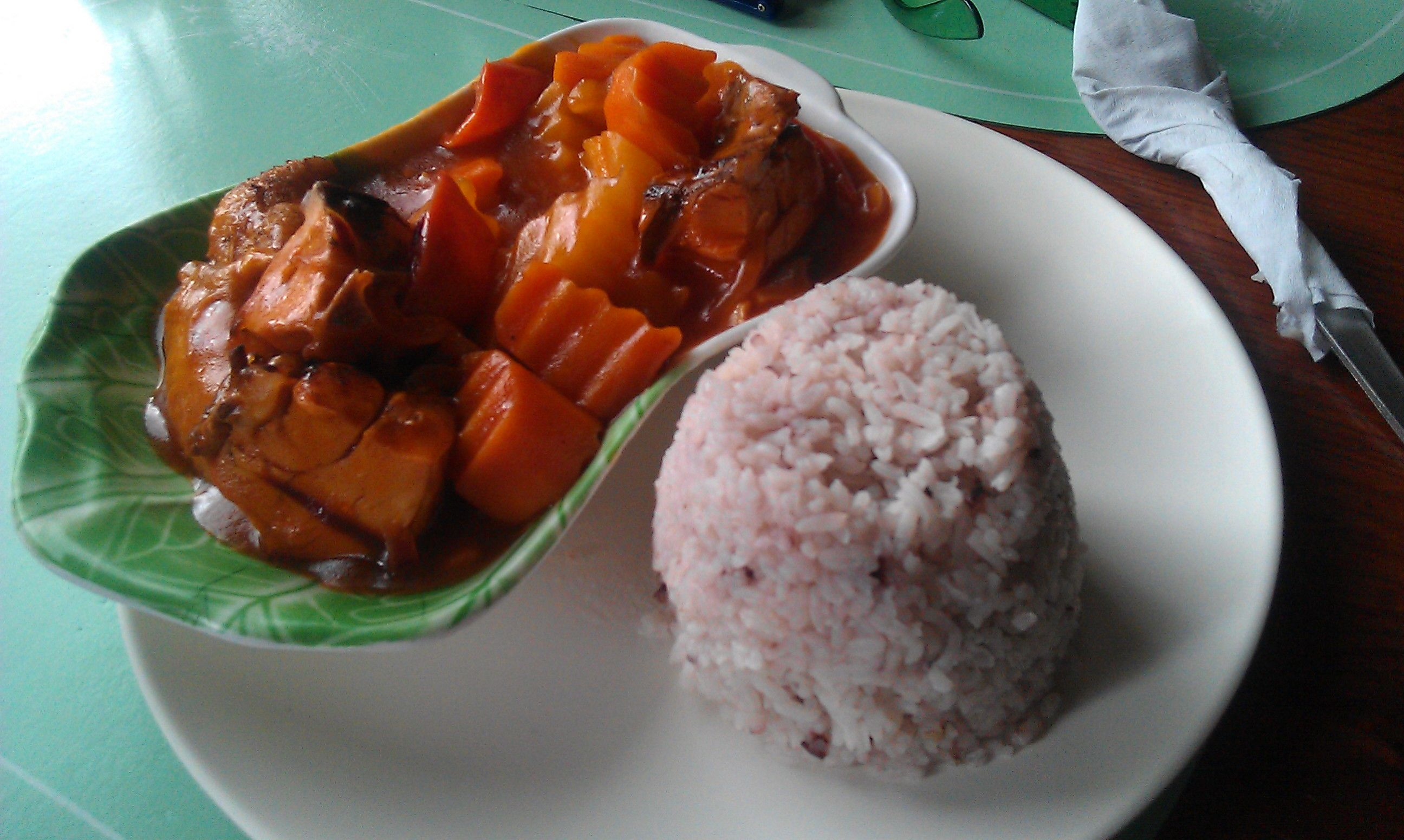 Chicken Afritada A Stew Of Chicken Tomatoes And Carrots Served