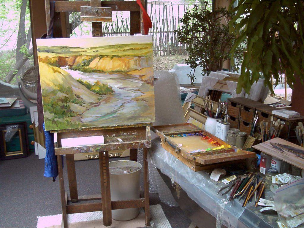 Anns oil studio setup painting studio painter blog