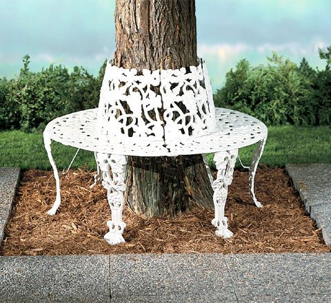 GardenLite Grape Tree Bench...Grandma Hazel used to have one of these...I want this for my back yard!