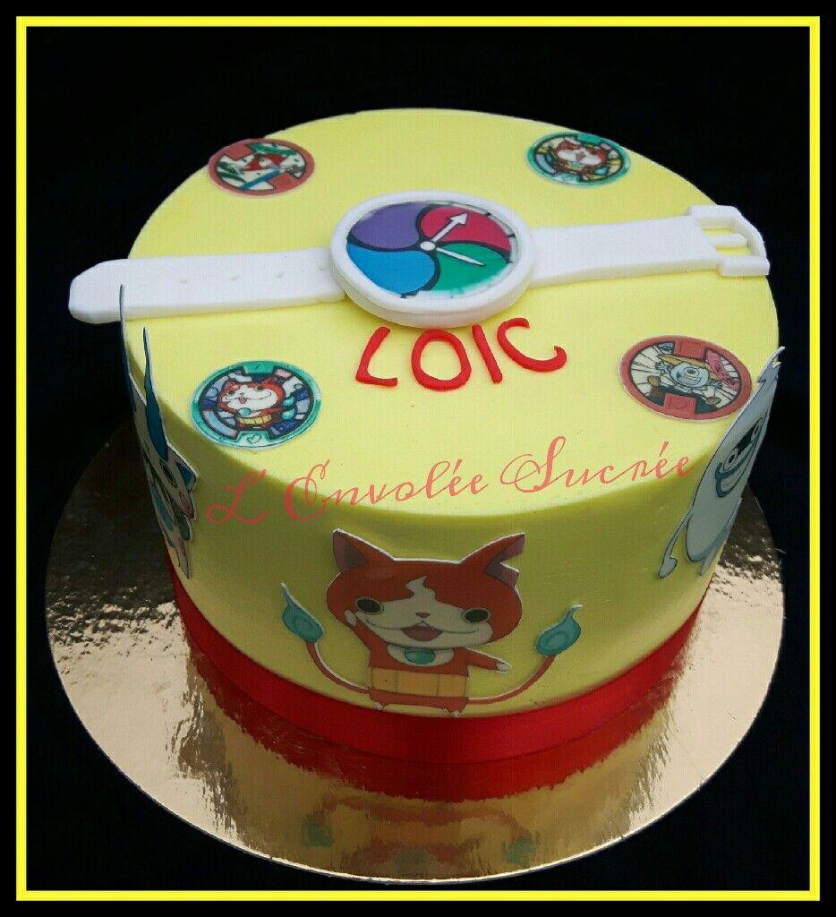 Yokai Watch Cake Riley Zoey Bday Cakes Pinterest Cake