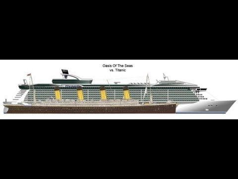 Titanic Vs Oasis Of The Seas Malcolm Olivers Cruiseblog Ship - Biggest cruise ship ever compared to titanic