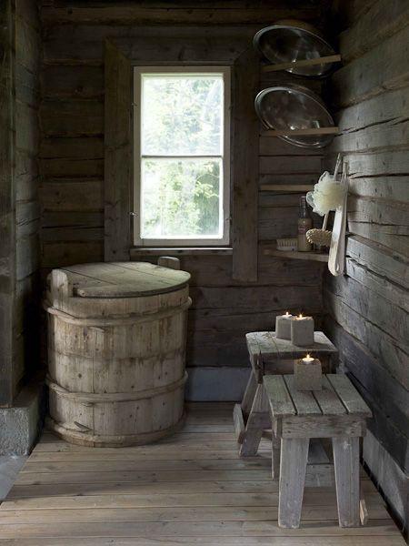 country house sauna