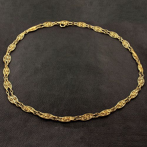 Antique French Gold Chain Yellow Gold Jewelry Pinterest Gold