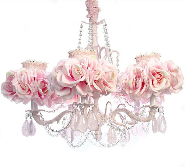 Inexpensive shabby chic chandeliers lighting chandeliers xgaw good for a really girl lovely room previous pinnerpink gingham rose chandelier mozeypictures Gallery