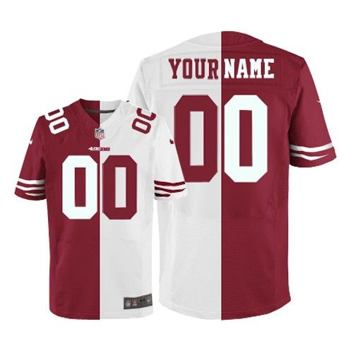 Mens Nike San Francisco 49ers Customized Elite Team Road Two Tone NFL Jersey  Christmas sale 06141fa87
