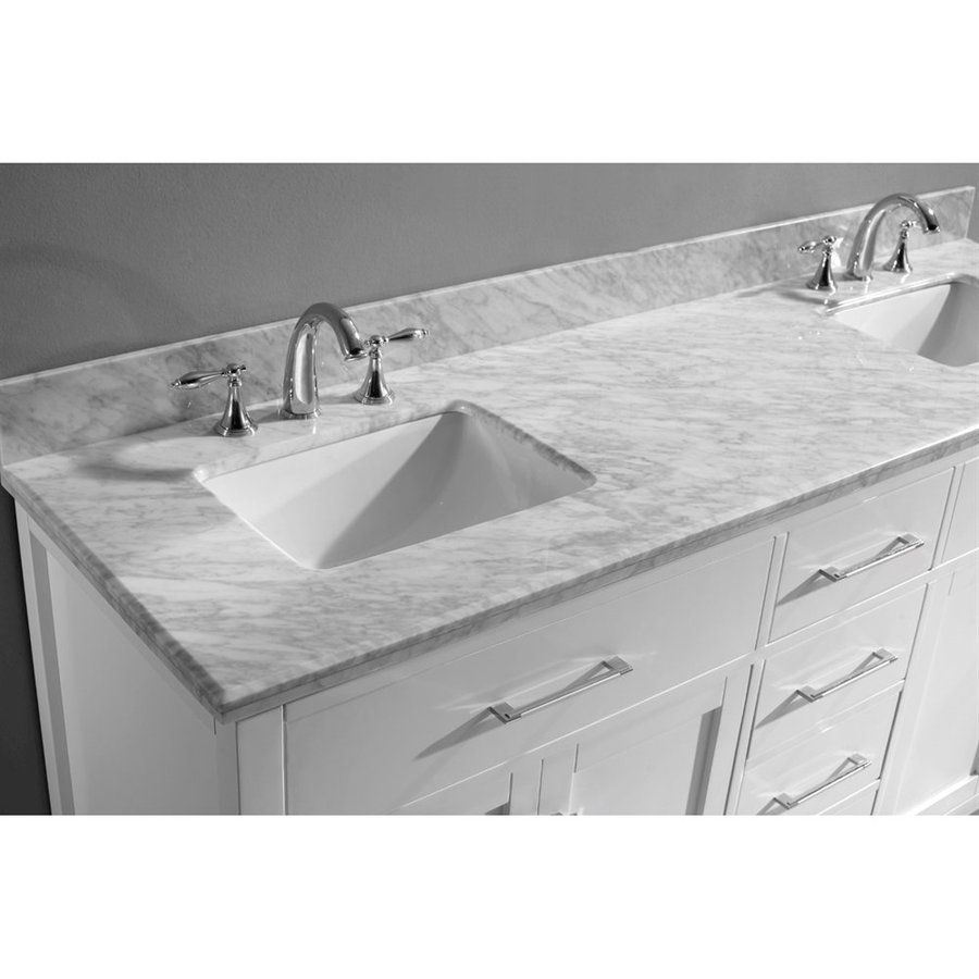 Lowes  Master Bath Shop Virtu Usa Caroline White Undermount Classy Shop Bathroom Vanities Design Ideas