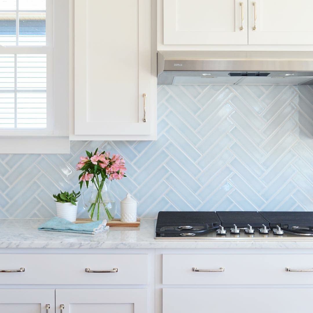 Herringbone Splash Back Kitchen Backsplash Trends