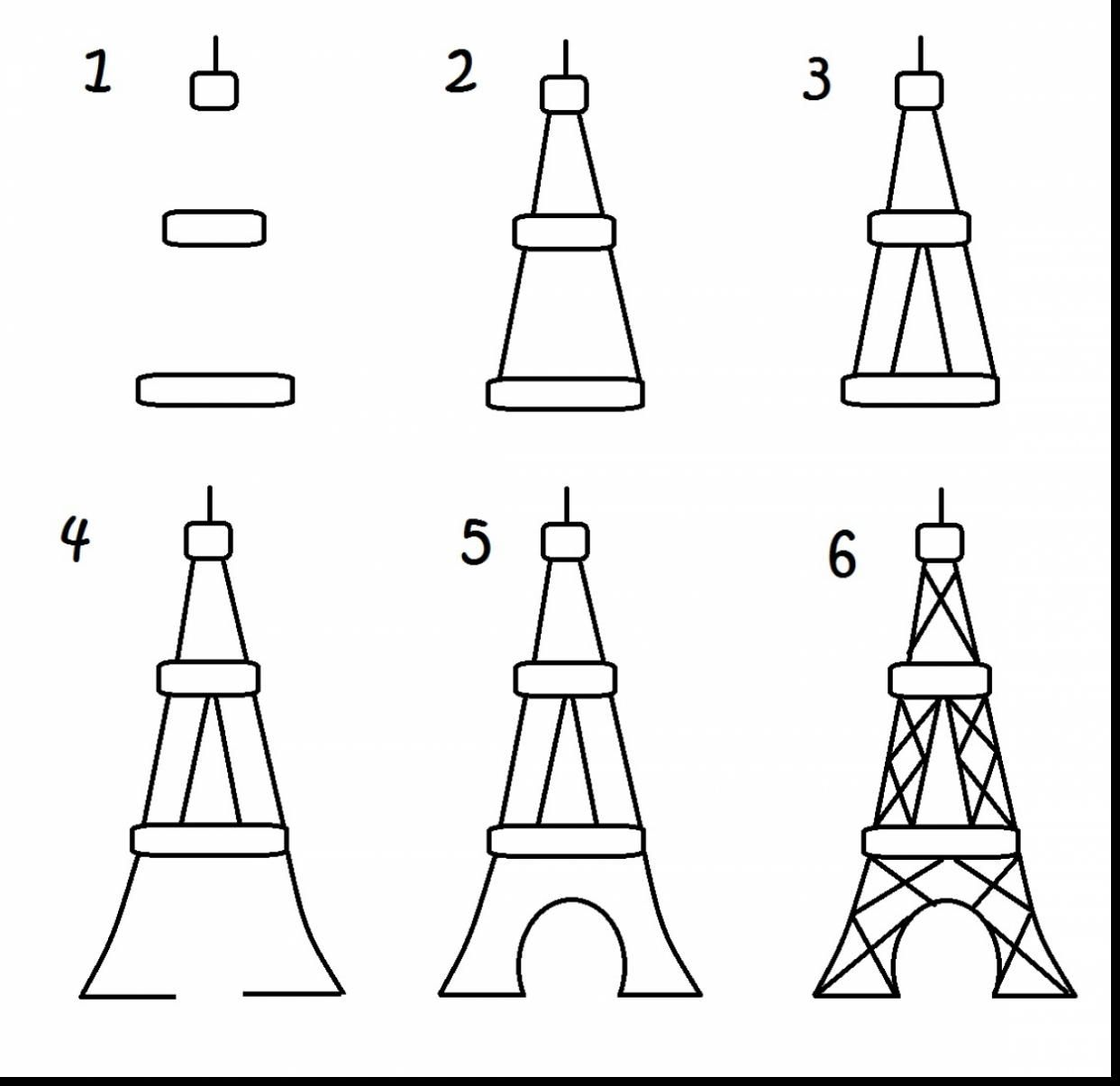 excellent how to draw the eiffel tower drawing with eiffel