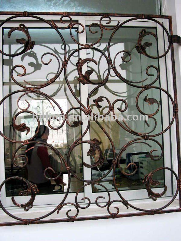 Decoration Wrought Iron Window Grill Iron Window Guard Window